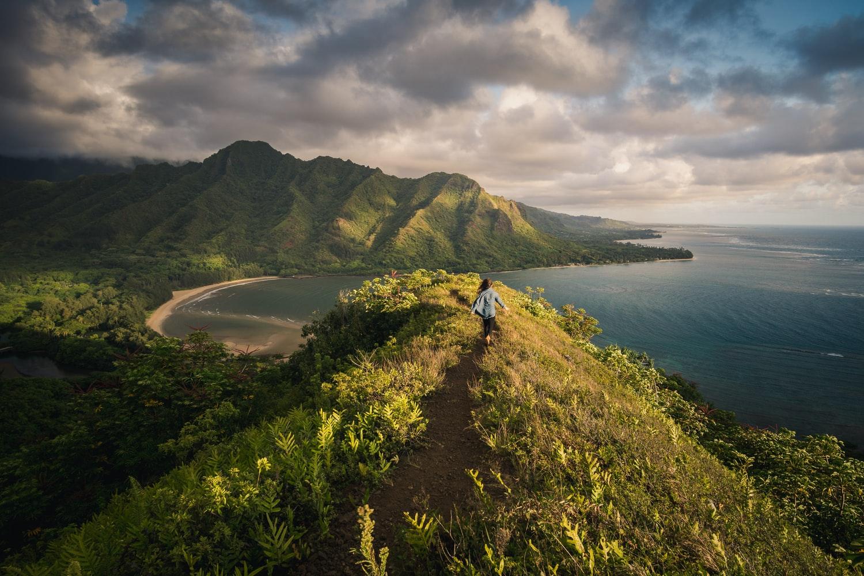 Wspinaczka po górach na Hawajach