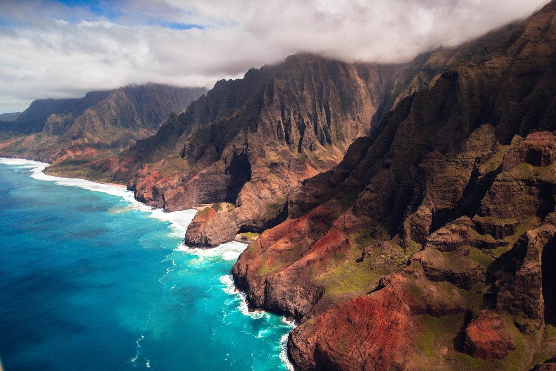 Wybrzeże Napali na wyspie Kauai, Hawaje.